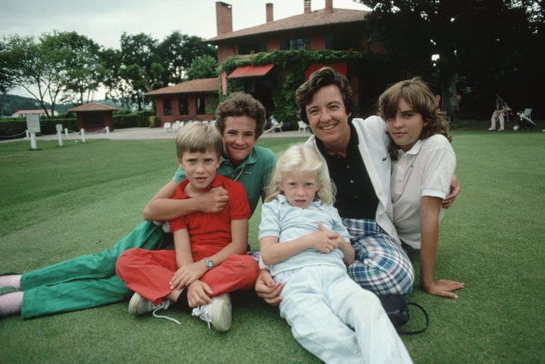 Golf champion Catherine Lacoste with her children