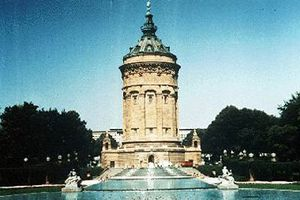 Mannheim Germany city landmark - Water Tower