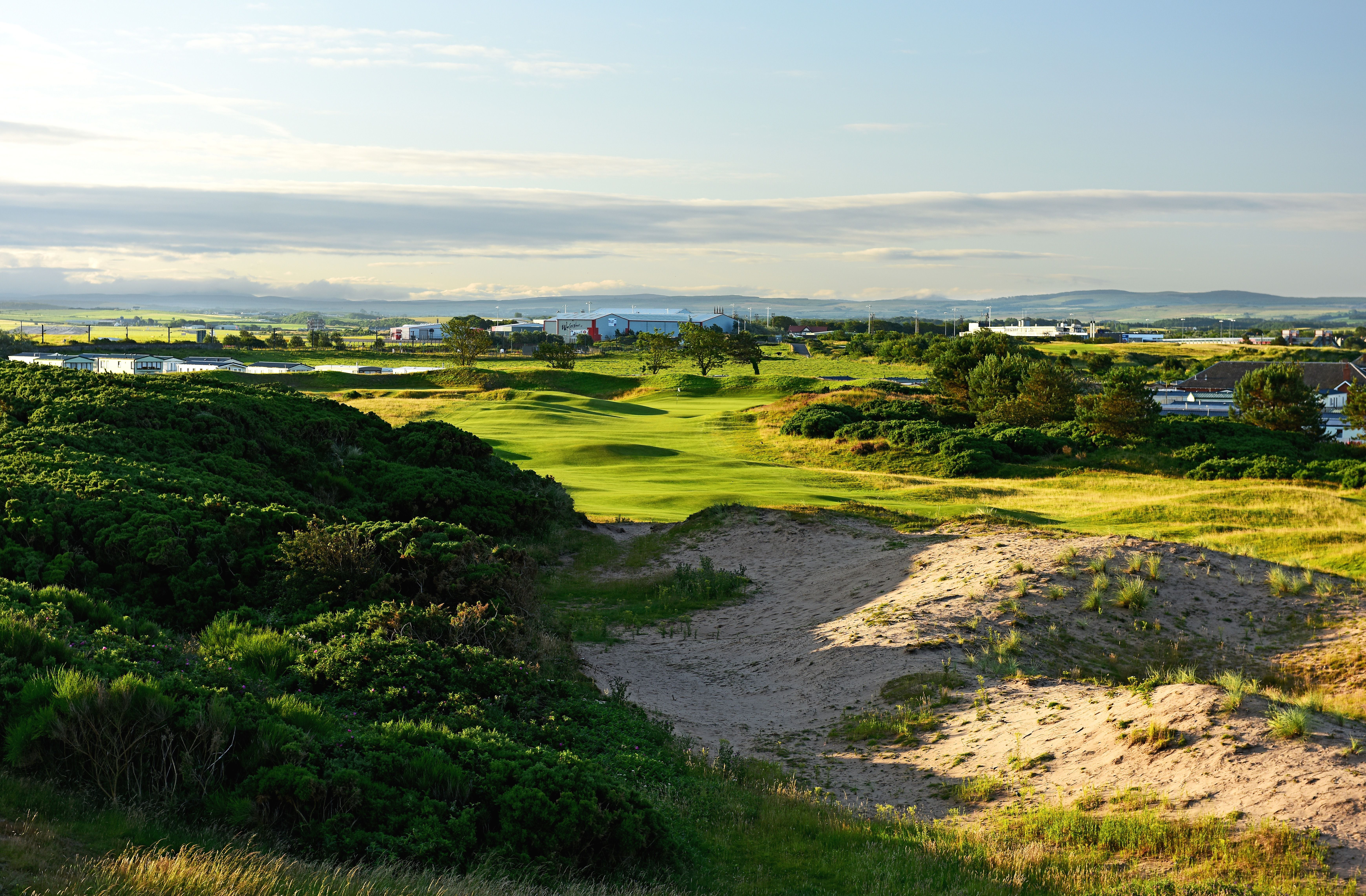 The 423 yards par 4, 9th hole, The Monk, on the Old Course at Royal Troon
