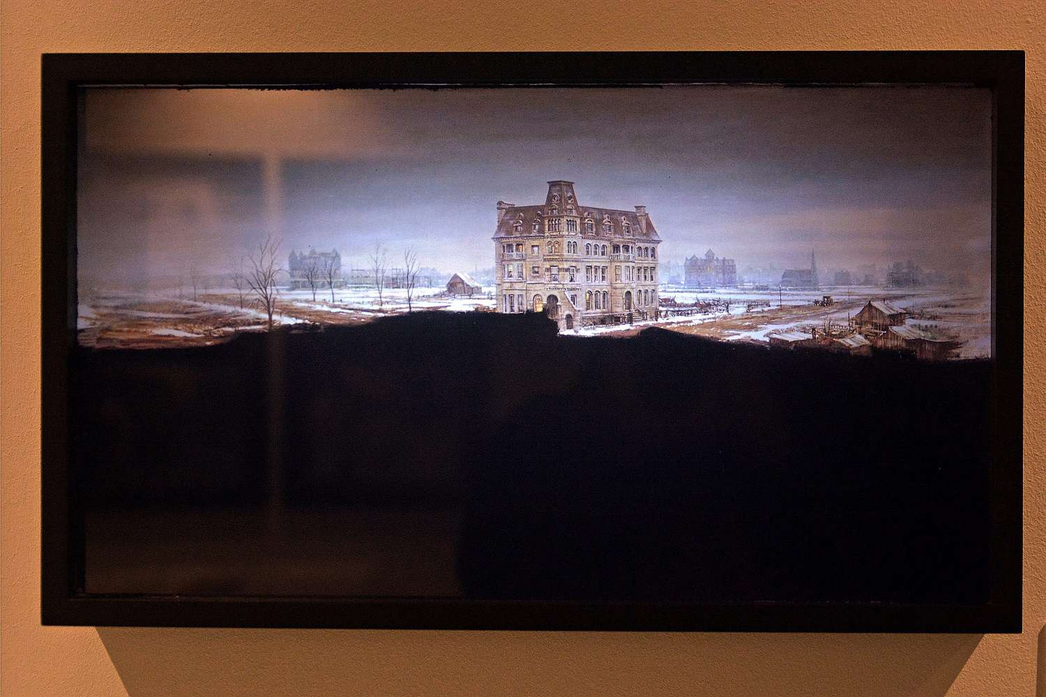 A matte painting used in Martin Scorsese's film Age of Innocence