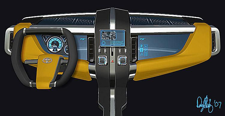 Toyota A-BAT Concept Truck's Dash