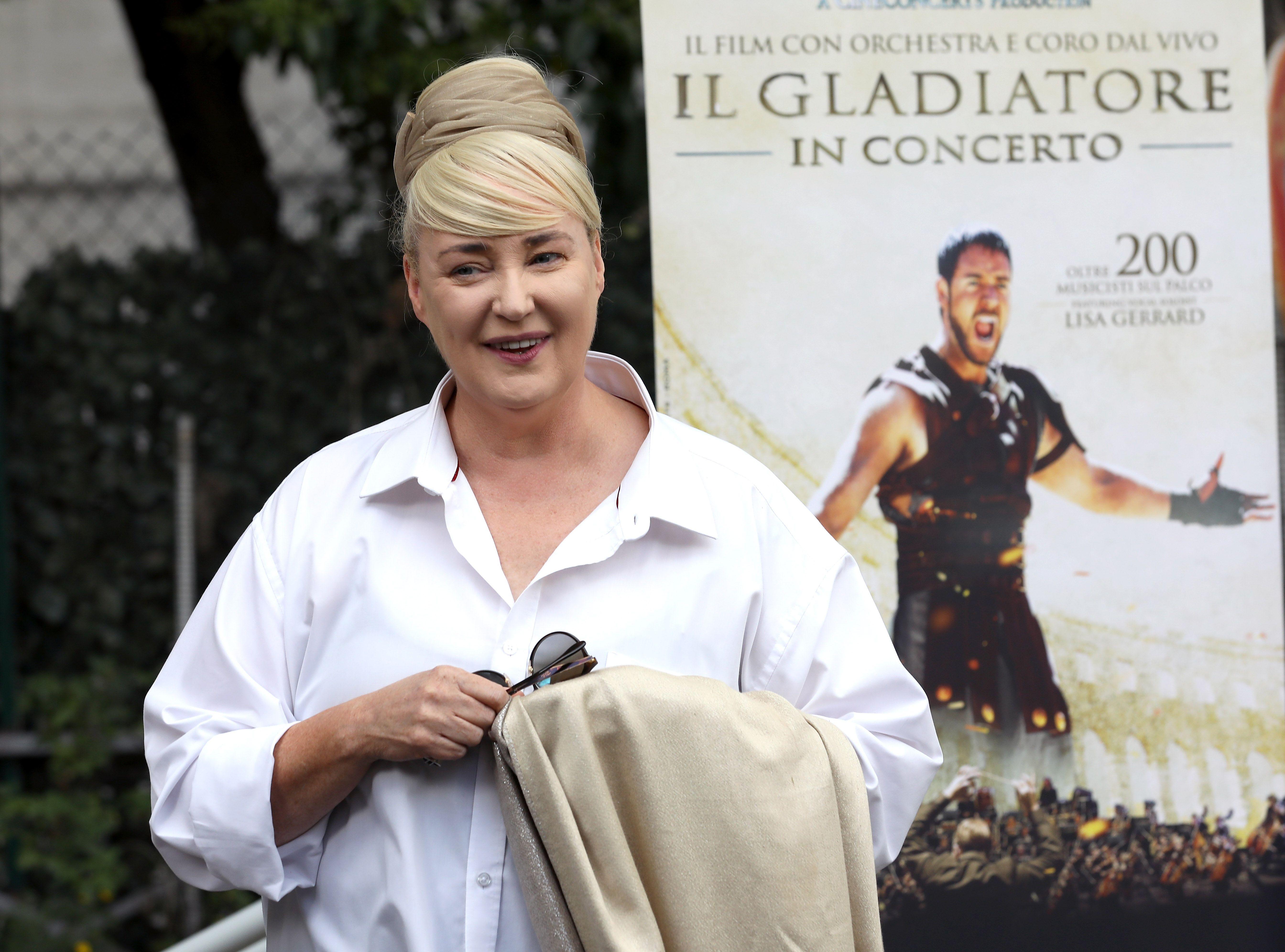 Lisa Gerrard arriving at Il Gladiatore In Concerto (Gladiator The Concert) Presentation In Rome