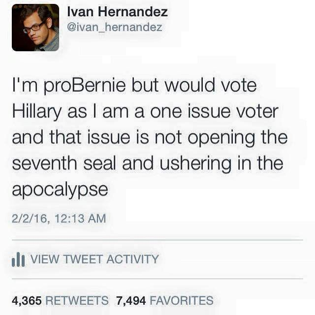 Bernie and Hillary vs. Apocalypse