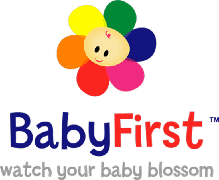 This is a logo for BabyFirstTV.
