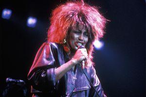 Tina Turner performing on stage
