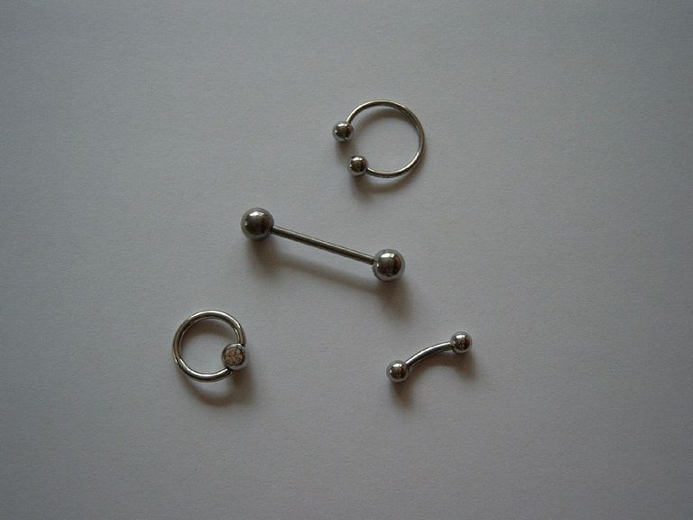 Common piercing jewelry