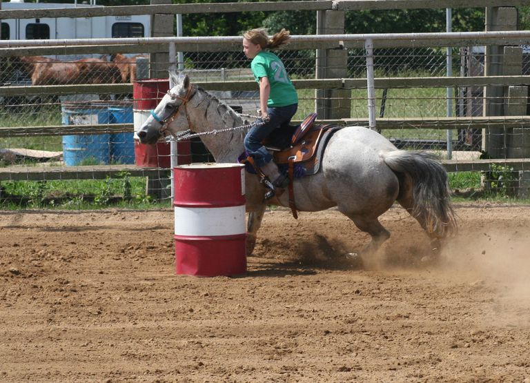 a young barrel racer
