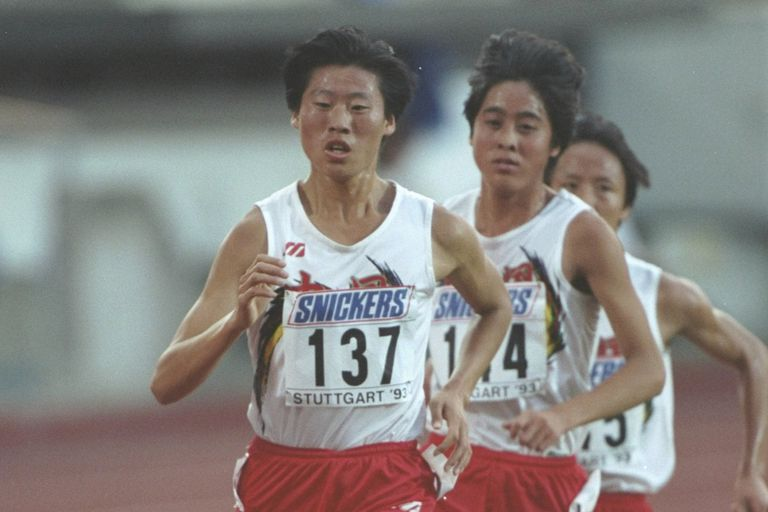 Qu Yunxia running the olympics
