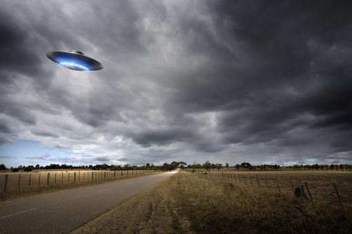 UFO above road
