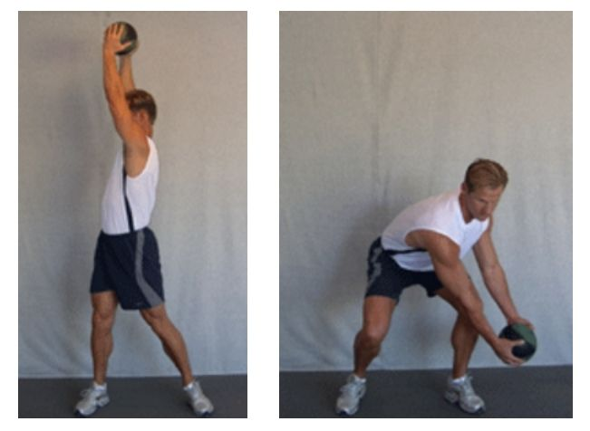 Golf Swing Training Exercise Downward Wood Chop