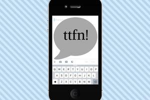 Iluustration of TTFN on a smart phone screen