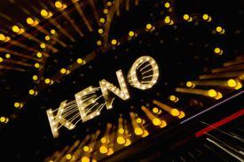 Keno neon sign in Las Vegas