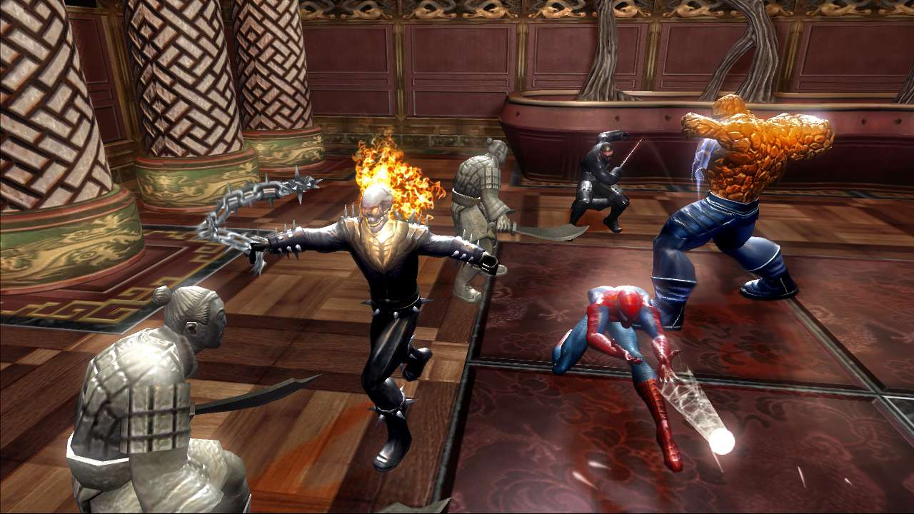 Marvel Ultimate Alliance game on PS3.