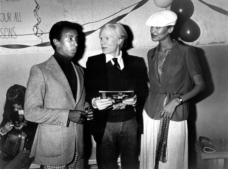 Denny Greene of Sha Na Na, Andy Warhol and Phyllis Hyman