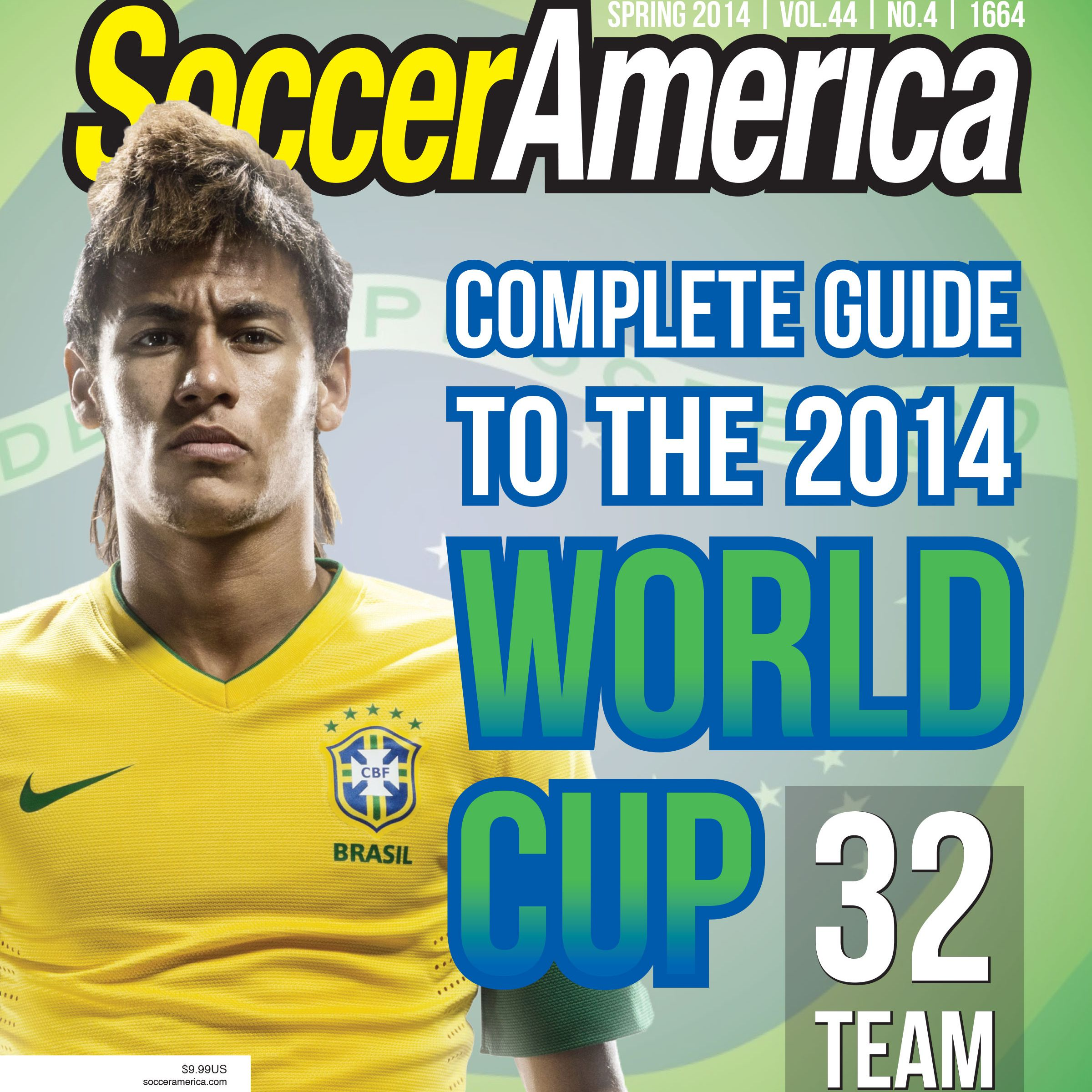 Cover of Soccer America magazine