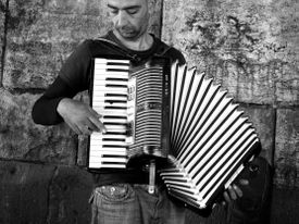 Man playing the accordion