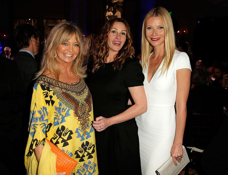 Goldie Hawn, Julia Roberts and Gwyneth Paltrow attend the 3rd annual Sean  Penn & Friends
