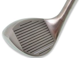 Close-up view of the Lovett Wedge golf club.