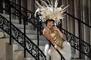Rhian Lois as Adele in English National Opera's production of Johann Strauss's Die Fledermaus