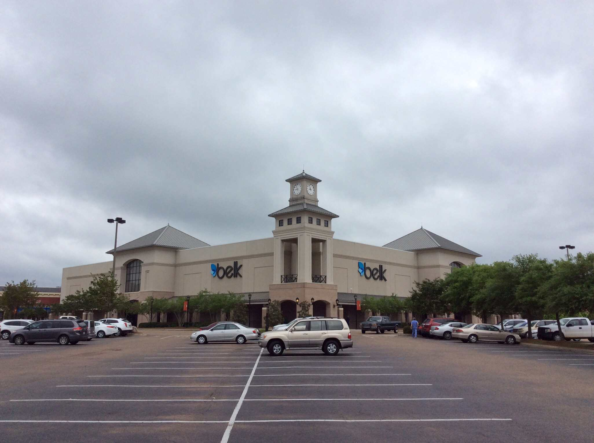 A Belk store front.