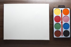 Canvas and Watercolor Palette