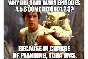 Yoda being carried by Luke meme