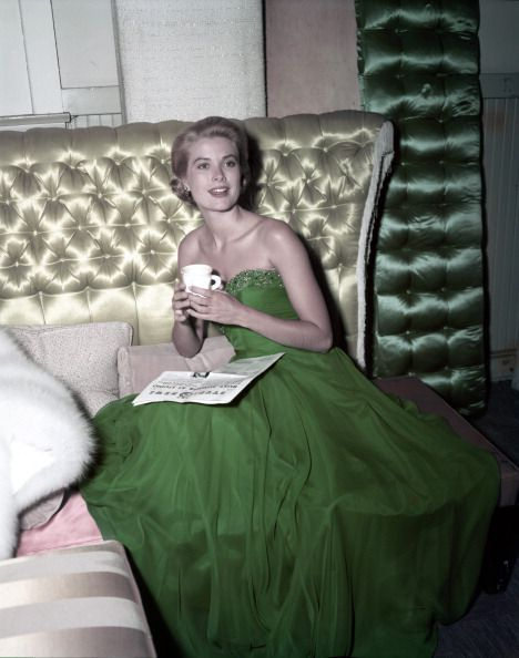 3e1da3213ce Grace-Kelly-green-dress-1954-Photo-by-Gene-