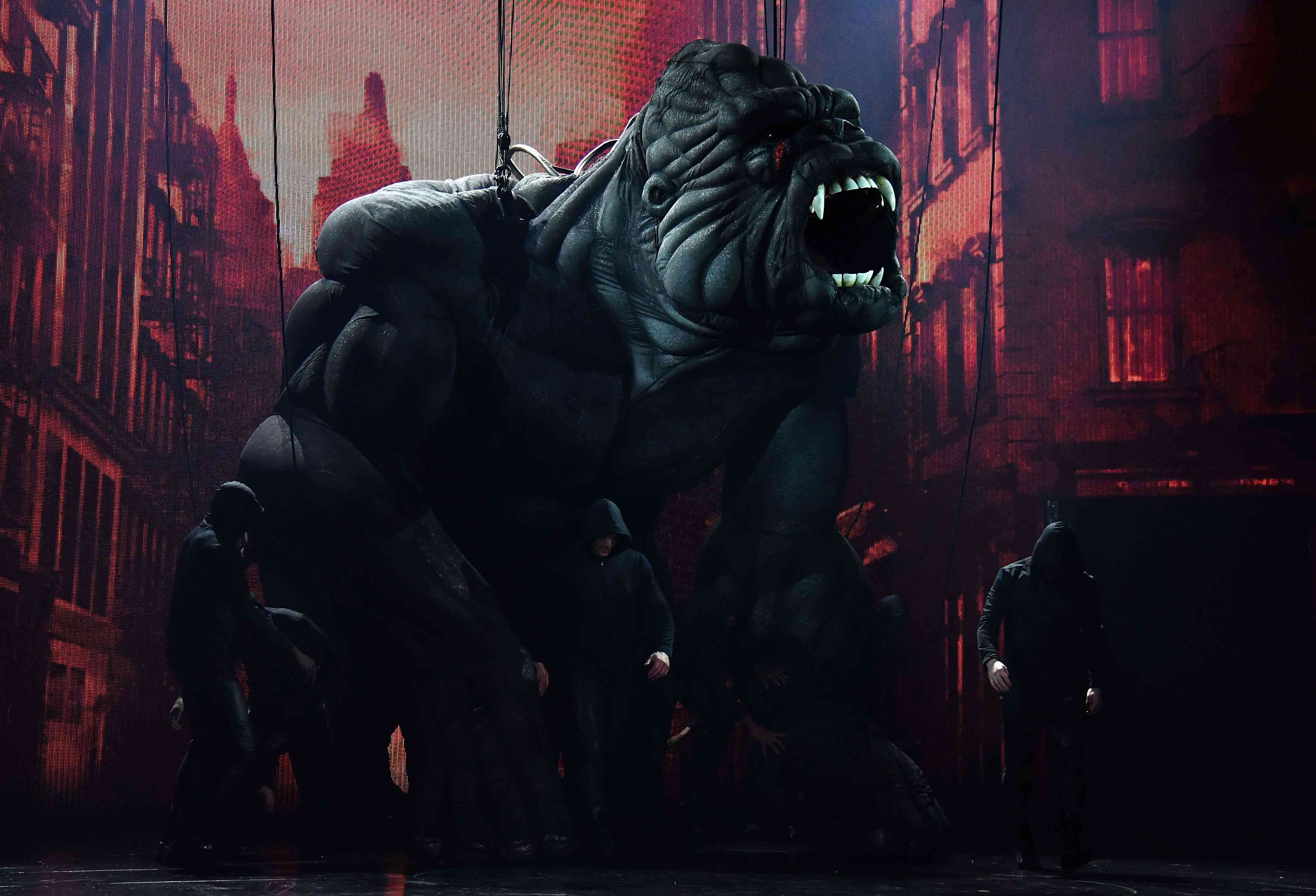 The King Kong puppet on Broadway