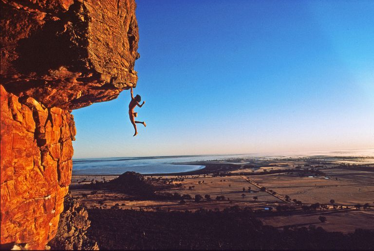 Free solo climbing is a dangerous and deadly climbing game with death the consequence of a fall.