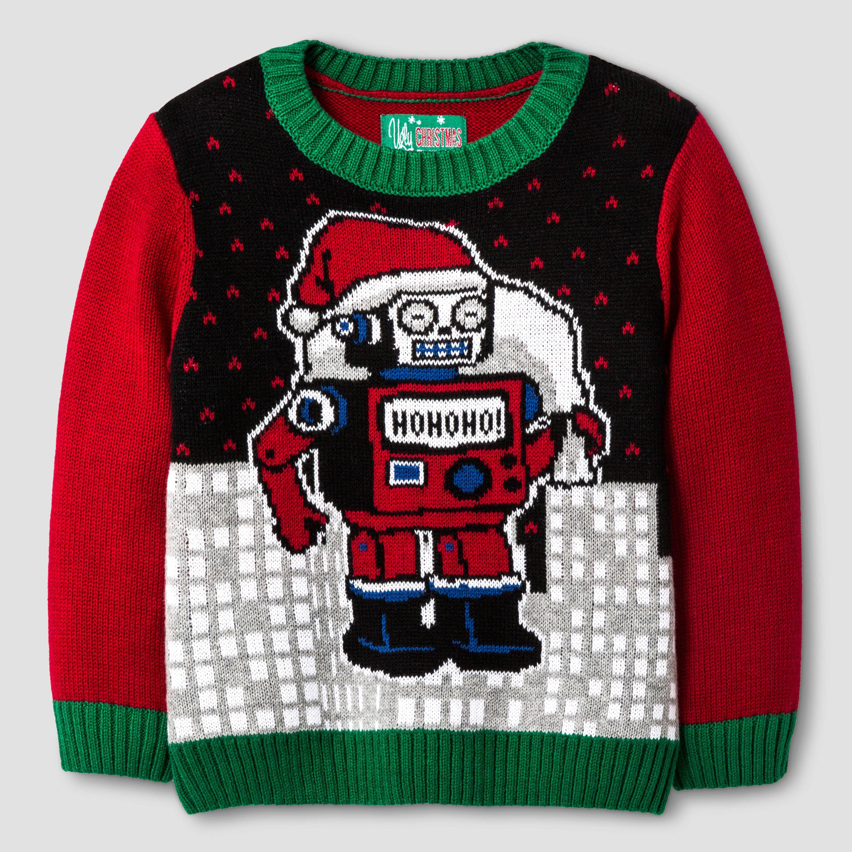 182a20839dc0 Ugly Christmas Sweater Toddler Boys' Santa Robot Sweater. Target.com