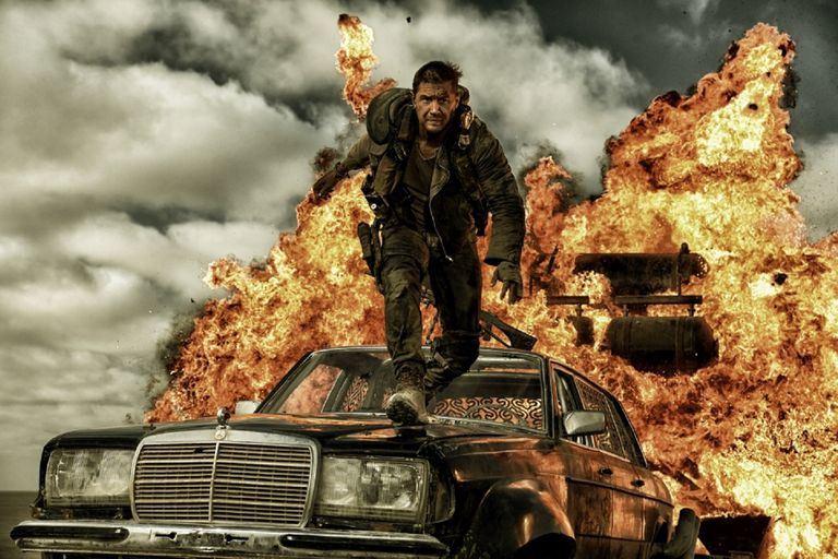Actor Tom Hardy in George Miller's 2015 film Mad Max: Fury Road