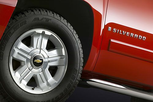 2007 Chevy Silverado truck's wheels