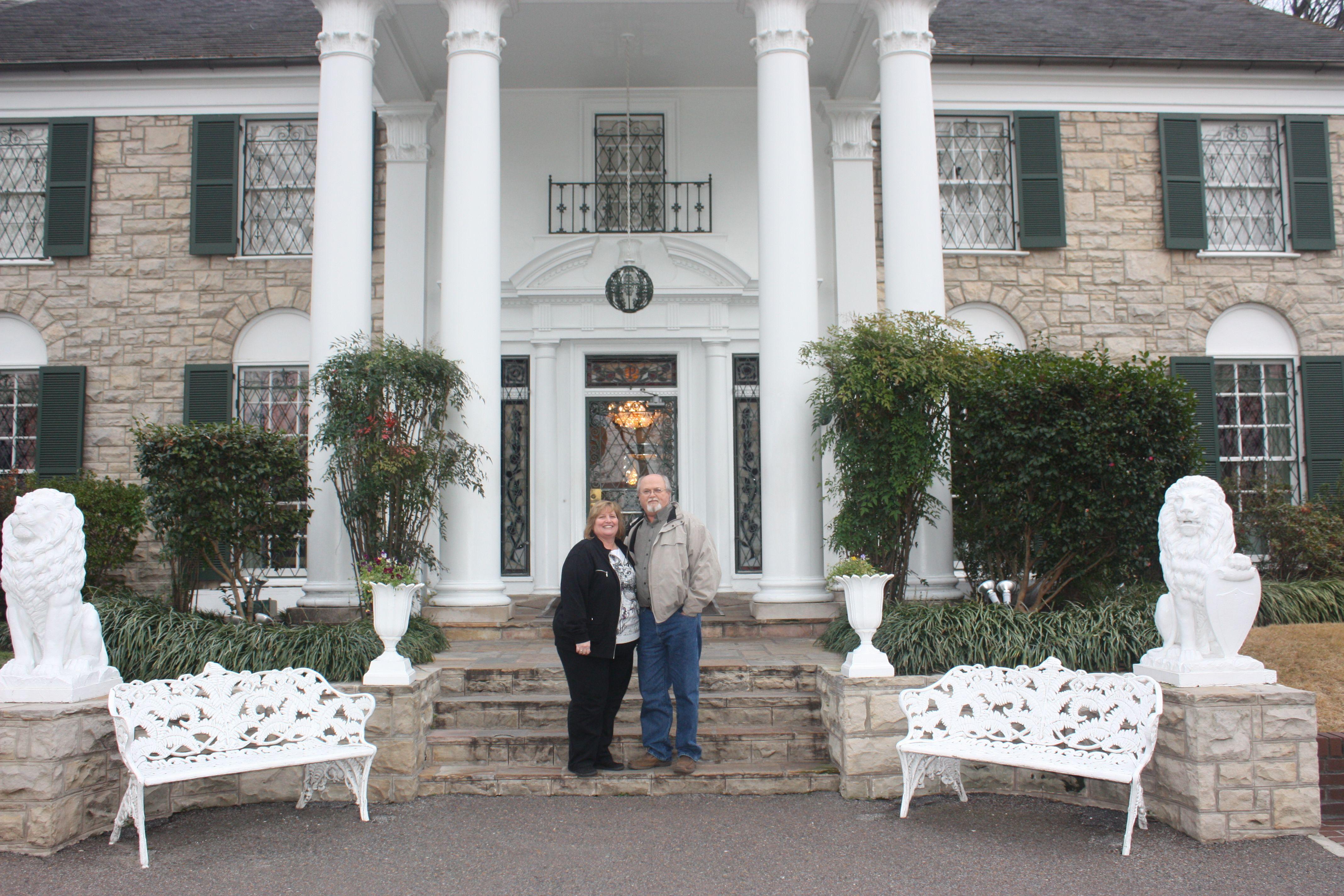 Jim and Lisa Robinson at Graceland