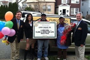 PCH Winner Leroy Faulks and the PCH Prize Patrol