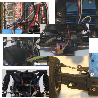 Parts of electric and nitro RCs