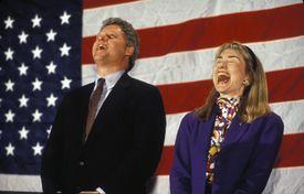 Portrait of Bill and Hillary Rodham Clinton