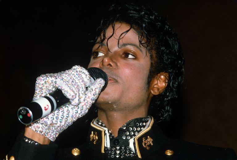Michael Jackson accepting an award