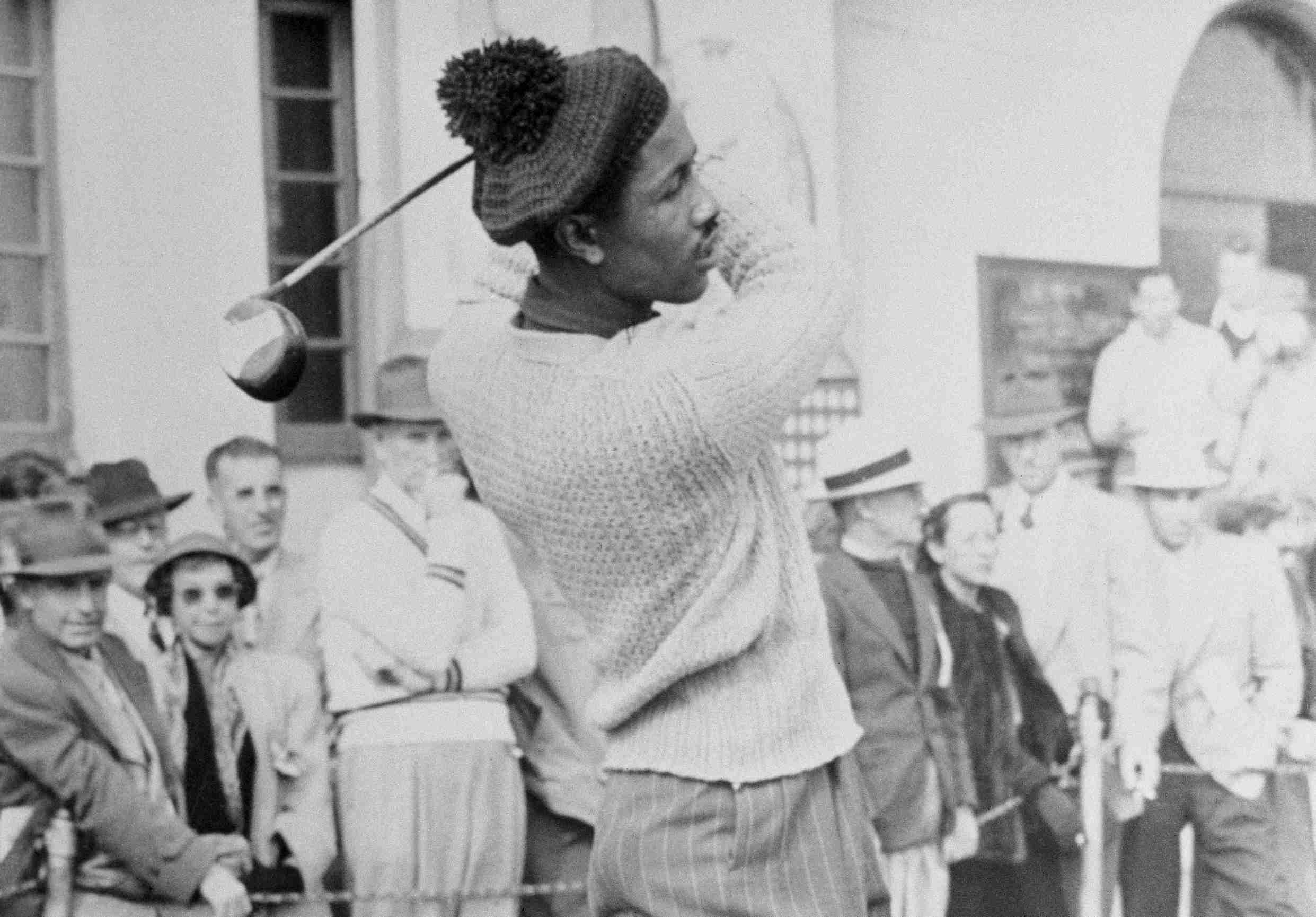 Golfer Ted Rhodes pictured in 1948