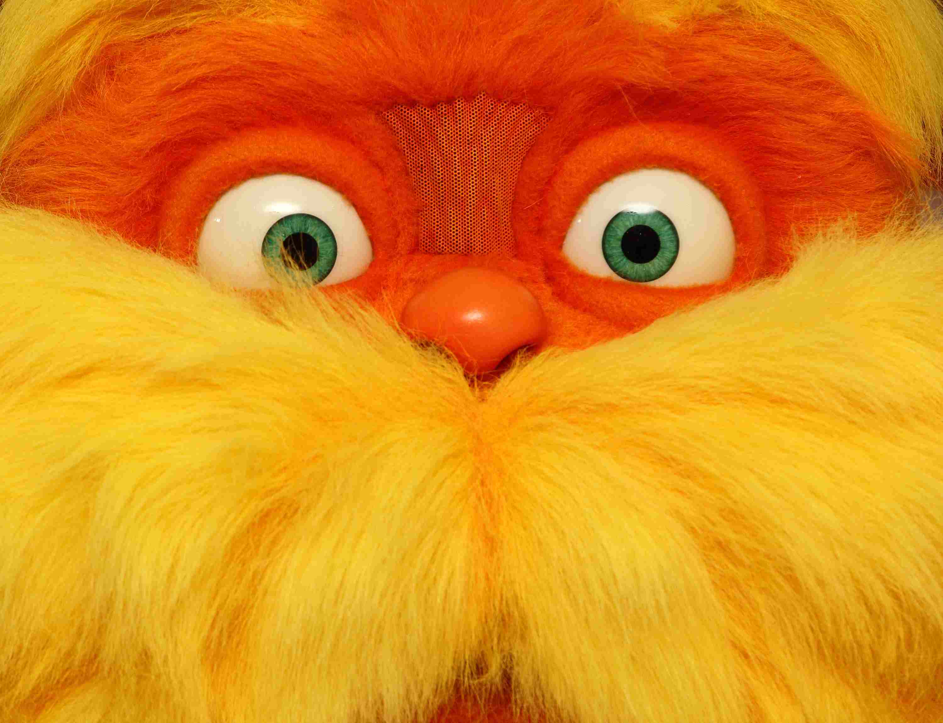 Close up of the Lorax's face