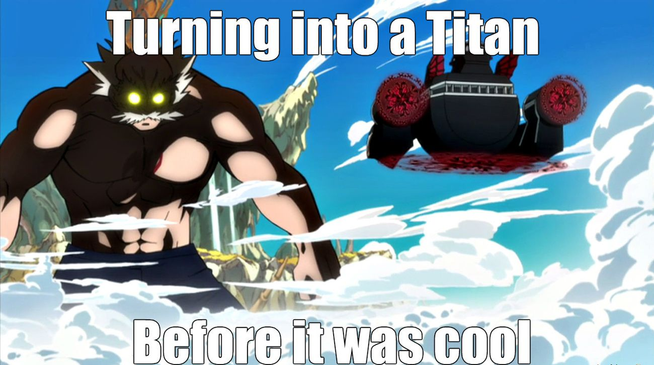 Funny Fairy Tail and Attack on Titan Meme