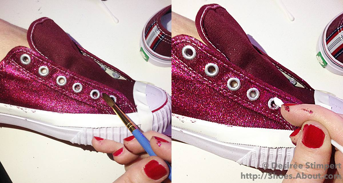 d985fab4aef0 Step-By-Step DIY Glitter Sneakers