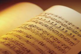 closeup of sheet music