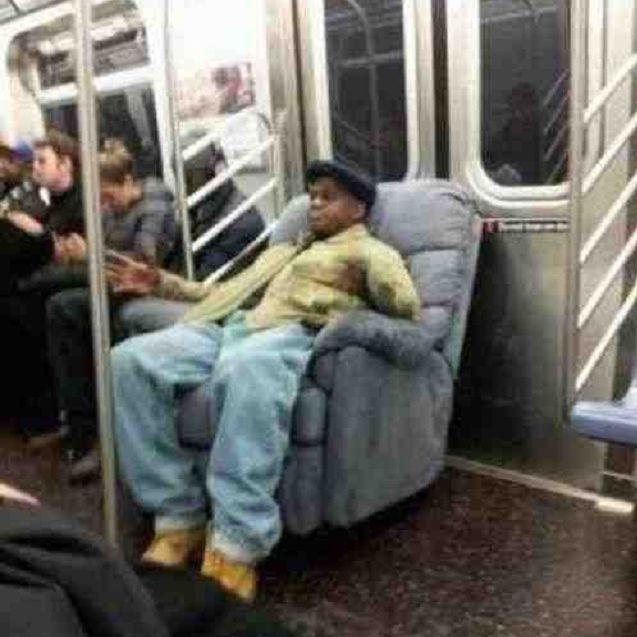 recliner on subway