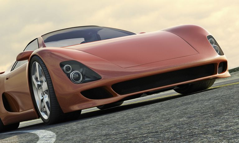 Image of an orange sports car, illustrating car sweepstakes at About.com.