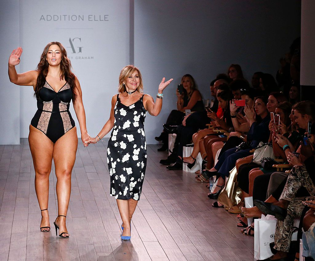 Ashley Graham on the runway for Addition Elle.