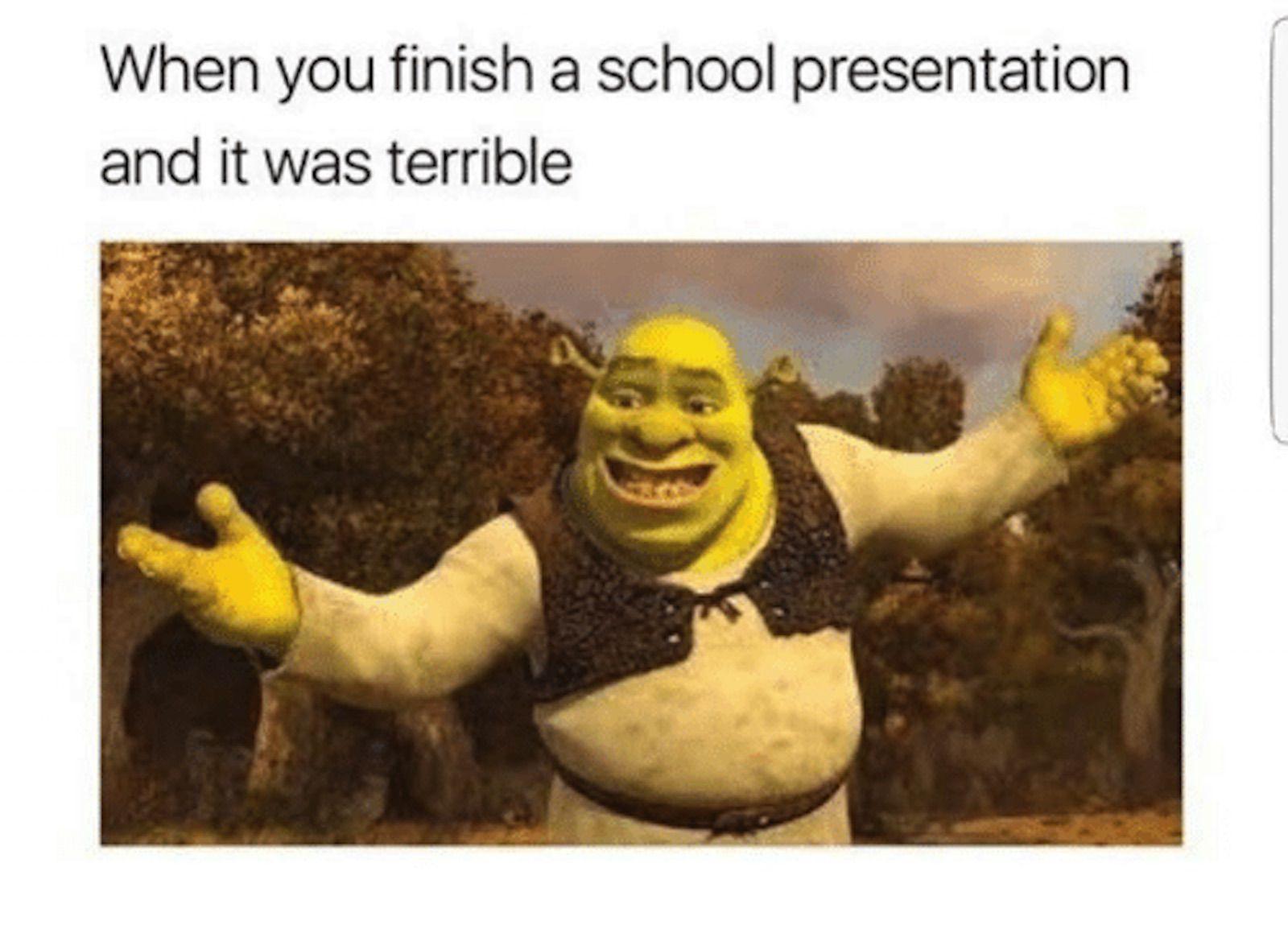 Shrek school meme