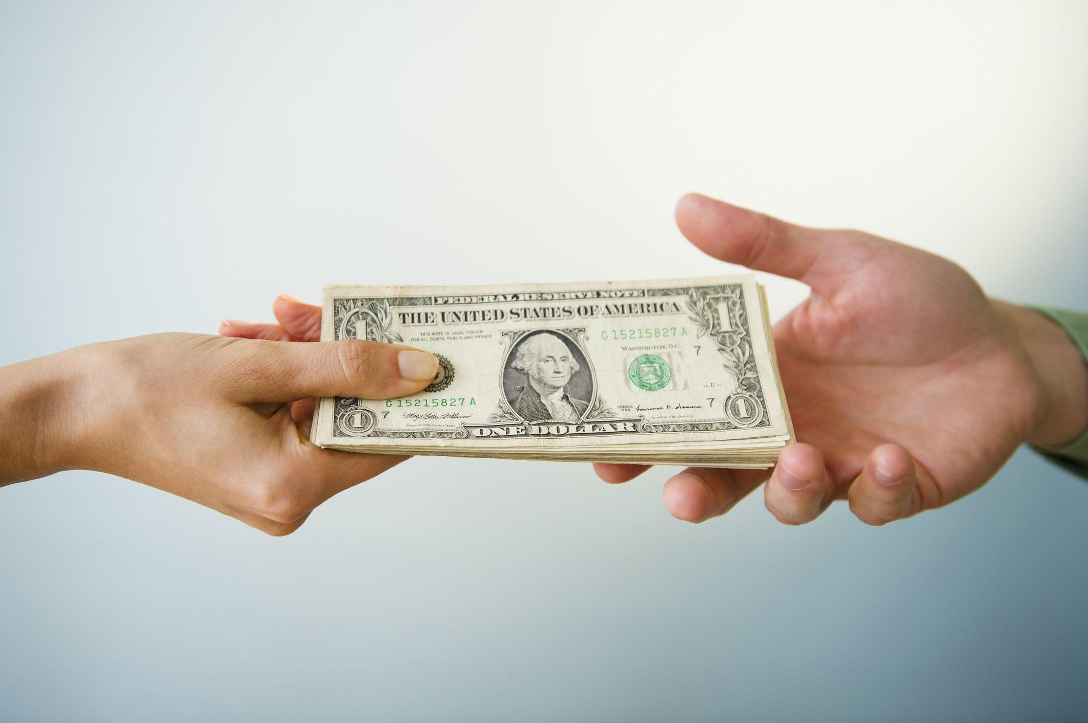 Image of Money Exchanging Hands