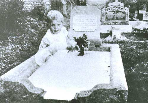Cemetery ghost baby