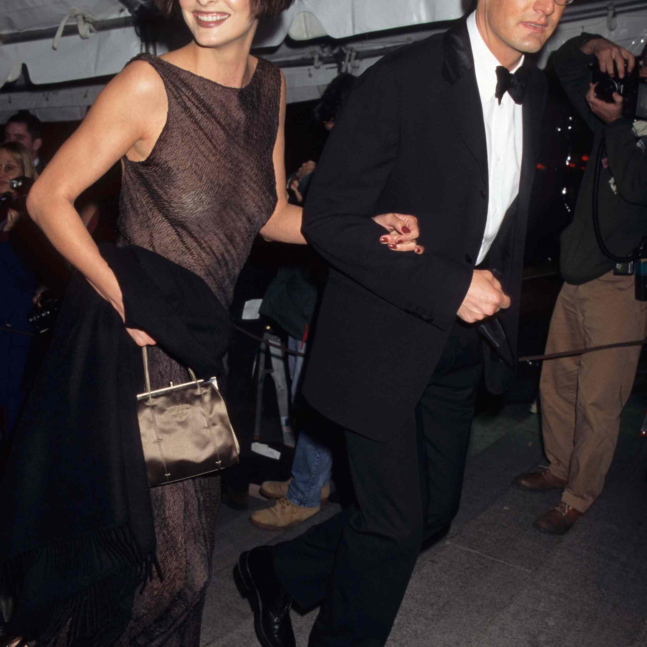 Linda Evangelista and Kyle MacLachlan
