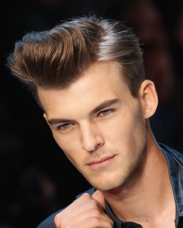 Brushed Back Hairstyles Men: Men's Brushed Back Hairstyles